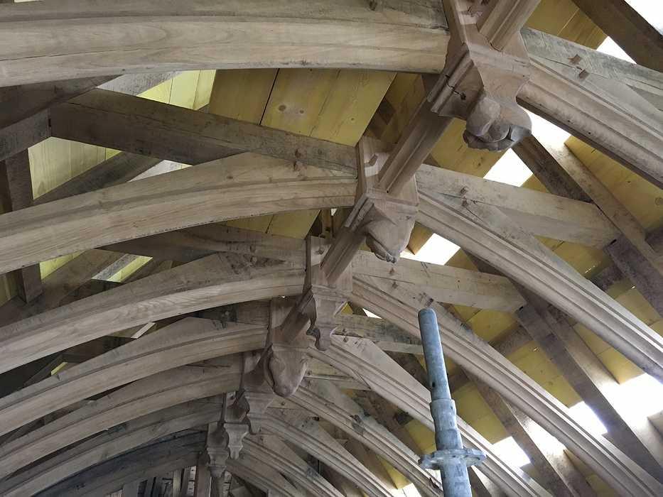 Restauration de l''église Sainte Philomène img0042lebec
